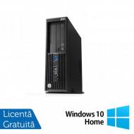 Workstation HP Z230 SFF, Intel Xeon Quad Core E3-1231 v3 3.40GHz-3.80GHz, 16GB DDR3, 1TB SATA, DVD-RW, nVidia Quadro K620/2GB + Windows 10 Home Calculatoare