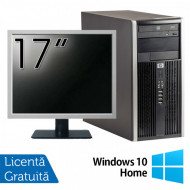 Calculator HP 6200 Tower, Intel Pentium G645 2.90GHz, 4GB DDR3, 250GB SATA, DVD-ROM + Monitor 17 Inch + Windows 10 Home (Top Sale!) Calculatoare