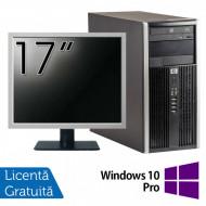 Calculator HP 6200 Tower, Intel Pentium G645 2.90GHz, 4GB DDR3, 250GB SATA, DVD-ROM + Monitor 17 Inch + Windows 10 Pro (Top Sale!) Calculatoare