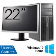 Calculator HP 8200 Tower, Intel Core i5-2400 3.10GHz, 8GB DDR3, 500GB SATA, GeForce GT210 512MB DDR3, DVD-ROM + Monitor 22 Inch + Windows 10 Home (Top Sale!) Calculatoare