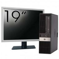 Calculator HP RP5800 SFF, Intel Core i3-2120 3.30GHz, 4GB DDR3, 250GB SATA, DVD-ROM, 2 Porturi Serial + Monitor 19 Inch Calculatoare