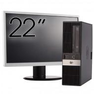 Calculator HP RP5800 SFF, Intel Core i5-2400 3.10GHz, 4GB DDR3, 250GB SATA, DVD-ROM, 2 Porturi Com + Monitor 22 Inch Calculatoare