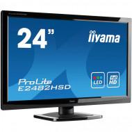 Monitor Iiyama E2482HSD, 24 Inch TN, 1920 x 1080, VGA, DVI, Fara picior Monitoare & TV