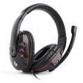 Casti Stereo Gembird GHS-402, Cu microfon si control volum, Negru