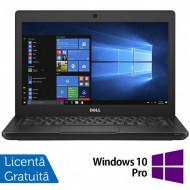 Laptop DELL Latitude 5280, Intel Core i5-7200U 2.50GHz, 8GB DDR4, 120GB SSD M.2, 12.5 Inch, Webcam + Windows 10 Pro Laptopuri