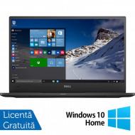 Laptop DELL Latitude 7370, Intel Core M5-6Y57 1.10-2.80GHz, 8GB DDR3, 240GB SSD, 13.3 Inch Full HD, Webcam + Windows 10 Home Laptopuri