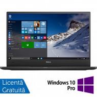 Laptop DELL Latitude 7370, Intel Core M5-6Y57 1.10-2.80GHz, 8GB DDR3, 240GB SSD, 13.3 Inch Full HD, Webcam + Windows 10 Pro Laptopuri