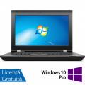 Laptop Lenovo ThinkPad L430, Intel Core i5-3210M 2.50GHz, 8GB DDR3, 120GB SSD, DVD-RW, 14 Inch, Webcam + Windows 10 Pro