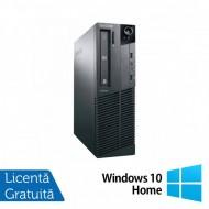 Calculator LENOVO M81 SFF, Intel Core i5-2400 3.10GHz, 4GB DDR3, 250GB SATA, DVD-RW + Windows 10 Home Calculatoare