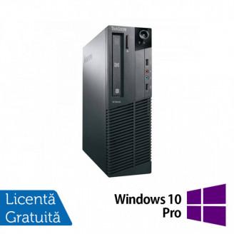 Calculator Lenovo M81 SFF, Intel Core i3-2100 3.10GHz, 4GB DDR3, 250GB SATA, DVD-ROM + Windows 10 Pro Calculatoare