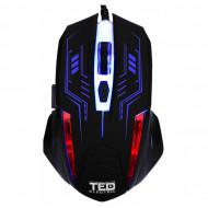 Mouse de Gaming 2400dpi, Iluminare LED, cablu USB 1.5M, 6 Butoane, TED-MO531 Componente & Accesorii