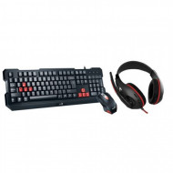 Kit Genius Gaming USB, Wired, 3 in 1 gaming kit, Tastatura + Mouse 1000 DPI + Casti, KMH-200 Componente & Accesorii
