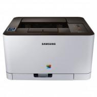 Imprimanta Laser Color Samsung Xpress C410W, A4, 19ppm, 2400 x 600 dpi, USB, Retea, Wireless Imprimante