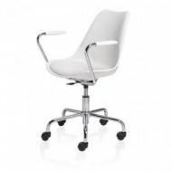 Scaun Office CUBETRADE FL20405 Model de Lux, Alb / Metal Mobilier Office