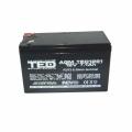 Acumulator stationar VRLA AGM 12V, 7,1Ah, F2/ T2, TED Electric, etans, UPS, Back-UP