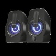 Boxe Stereo Trust Gemi RGB 2.0 Speaker Set - Black Componente & Accesorii