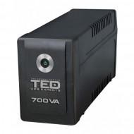 UPS TED Electric 700VA / 400W Line Interactive, 2 iesiri schuko, TED-700 Servere & Retelistica