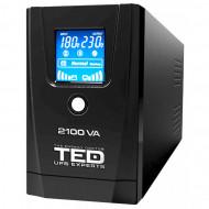 UPS TED Line Interactive 2100VA/1200W, display LCD, 2 x Schuko Servere & Retelistica