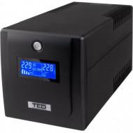 UPS 1300VA / 750W, LCD, Cu stabilizator, 4 iesiri schuko, TED Electric Servere & Retelistica