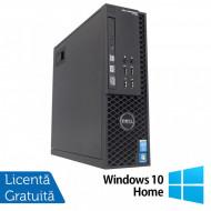 Workstation Dell Precision T1700 SFF, Intel Quad Core i7-4770 3.40GHz - 3.90GHz, 32GB DDR3, 240GB SSD, nVidia Quadro 600/1GB, DVD-RW + Windows 10 Home Calculatoare
