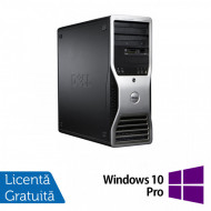 Workstation Dell Precision T3500, Xeon Quad Core W3520 2.66GHz - 2.93GHz, 6GB DDR3, HDD 500GB SATA, DVD-ROM, Nvidia GT640/1GB + Windows 10 Pro Calculatoare
