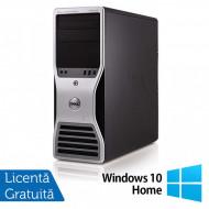 Workstation Dell T5500, Intel Xeon Hexa Core E5645 2.40GHz-2.67GHz, 8GB DDR3, 500GB SATA, nVidia GT640/1GB + Windows 10 Home Calculatoare