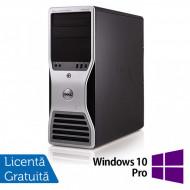 Workstation Dell T5500, Intel Xeon Hexa Core E5645 2.40GHz-2.67GHz, 8GB DDR3, 500GB SATA, nVidia GT640/1GB + Windows 10 Pro Calculatoare