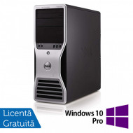 Workstation Dell T5500, Intel Xeon Hexa Core E5645 2.40GHz-2.67GHz, 24GB DDR3, 2TB SATA, nVidia Quadro 4000/2GB + Windows 10 Pro Calculatoare