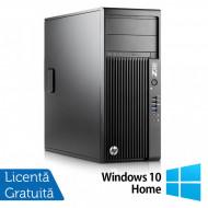 Workstation HP Z230 Tower, Intel Quad Core i5-4690 3.50GHz-3.90GHz, 8GB DDR3, 1TB SATA, DVD-RW, nVidia K620/2GB + Windows 10 Home Calculatoare