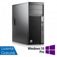 Workstation HP Z230 Tower, Intel Quad Core i5-4690 3.50GHz-3.90GHz, 8GB DDR3, 240GB SSD Nou, DVD-RW, nVidia K620/2GB + Windows 10 Pro Calculatoare