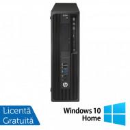 Workstation HP Z240 Desktop, Intel Xeon Quad Core E3-1230 V5 3.40GHz-3.80GHz, 16GB DDR4, SSD 120GB SATA, nVidia K620/2GB, DVD-RW + Windows 10 Home Calculatoare