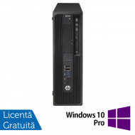 Workstation HP Z240 Desktop, Intel Xeon Quad Core E3-1230 V5 3.40GHz-3.80GHz, 16GB DDR4, SSD 480GB SATA, nVidia K620/2GB, DVD-RW + Windows 10 Pro Calculatoare