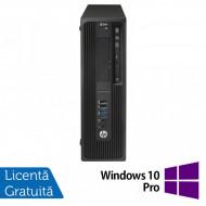 Workstation HP Z240 Desktop, Intel Xeon Quad Core E3-1230 V5 3.40GHz-3.80GHz, 24GB DDR4, SSD 480GB + HDD 3TB SATA, nVidia K620/2GB, DVD-RW + Windows 10 Pro Calculatoare