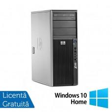 WorkStation Refurbished HP Z400, Intel Xeon Quad Core E5620, 2.40GHz, 4GB DDR3 ECC, 500GB SATA, AMD Radeon HD8490/1GB, DVD-RW + Windows 10 Home Calculatoare