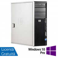 WorkStation HP Z400, Intel Xeon Quad Core W3520 2.66GHz-2.93GHz, 8GB DDR3, 500GB SATA, Placa Video nVidia GT640/1GB, DVD-RW + Windows 10 Pro Calculatoare