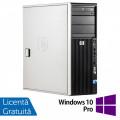 WorkStation HP Z400, Intel Xeon Quad Core W3520 2.66GHz-2.93GHz, 12GB DDR3, 1TB SATA, Placa video Gaming AMD Radeon R7 350 4GB GDDR5 128-Bit, DVD-RW + Windows 10 Pro