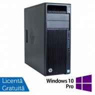 Workstation HP Z440, Intel Xeon 12-Core E5-2670 V3 2.30GHz - 3.10GHz, 32GB DDR4 ECC, 480GB SSD + 1TB SATA, nVidia Quadro K2200/4GB + Windows 10 Pro Calculatoare