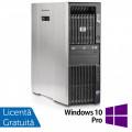 Workstation HP Z600, Intel Xeon Quad Core E5540 2.53GHz-2.80GHz, 8GB DDR3 ECC, 1TB SATA, AMD Radeon HD 7350 1GB GDDR3 + Windows 10 Pro