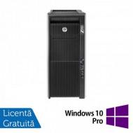 Workstation Refurbished HP Z820, 2x Intel Xeon E5-2660 V2 2.20GHz-3.00GHz DECA Core, 32GB DDR3 ECC, 1TB HDD + 240GB SSD, nVidia Quadro 4000 2GB GDDR5, 256 BIT + Windows 10 Pro Calculatoare