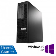 Workstation Lenovo ThinkStation C30 Tower, Intel Xeon E5-2620 V2 2.10 - 2.60GHz Hexa Core, 32GB DDR3, 480GB SSD + 2TB HDD, nVidia Quadro 410/512MB, DVD-RW + Windows 10 Pro Calculatoare